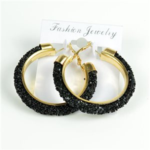 1p Hoop Earrings with Sequins 45mm flap closure New Collection 78209