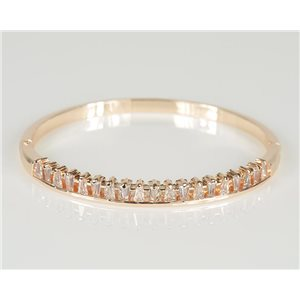 Bangle with metal clip in Rose Gold color Zircon diamond cut D60mm Chic Collection 78445