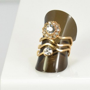 Rhinestones Adjustable Ring New Style Full Rhinestone 66061