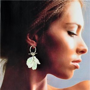 1p Silver Stud Earrings 5cm FLORA Fashion Chic Collection 78255