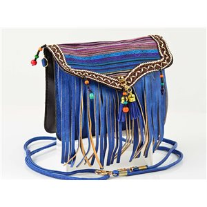 Women's leather-look pouch New Collection Ethnic Fabrics 18 * 14cm 78498
