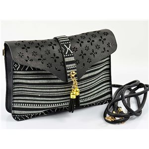 Women's leather-look pouch New Collection Ethnic Fabrics 18 * 14cm 78477