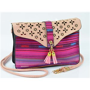 Women's leather-look pouch New Collection Ethnic Fabrics 18 * 14cm 78478