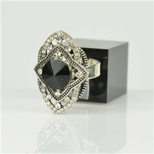Adjustable Strass Ring Silver Full Strass New Collection 78507
