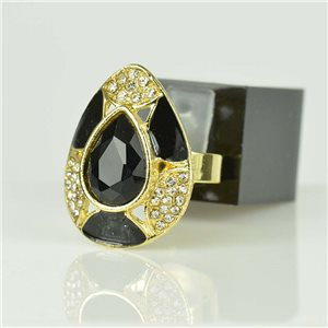 Adjustable Strass Ring Gold Full Strass New Collection 78515