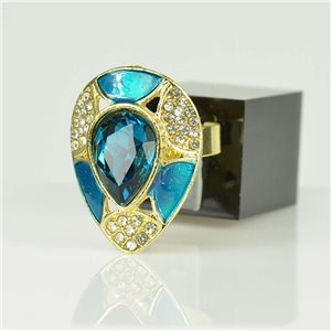 Adjustable Strass Ring Gold Full Strass New Collection 78518
