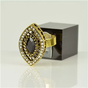 Bague Strass réglable Doré Full Strass New Collection 78519