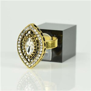 Adjustable Strass Ring Gold Full Strass New Collection 78520