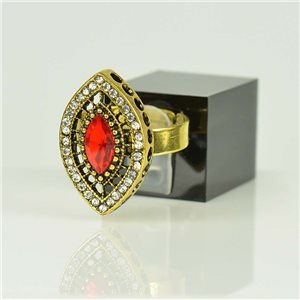 Adjustable Strass Ring Gold Full Strass New Collection 78521