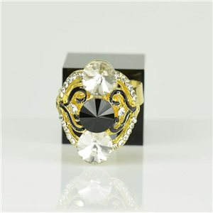 Bague Strass réglable Doré Full Strass New Collection 78527