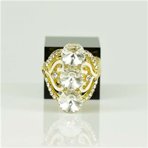 Adjustable Strass Ring Gold Full Strass New Collection 78528