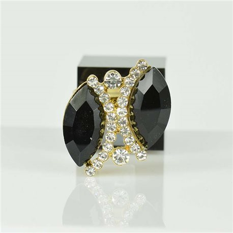 Adjustable Strass Ring Gold Full Strass New Collection 78531