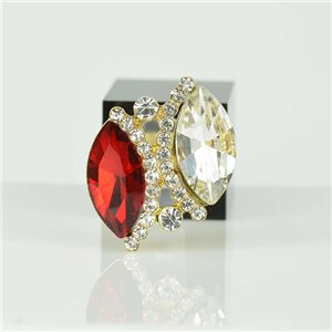 Bague Strass réglable Doré Full Strass New Collection 78533