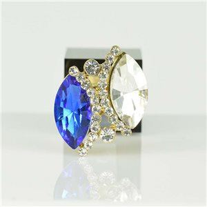 Bague Strass réglable Doré Full Strass New Collection 78534