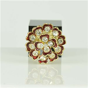 Bague Strass réglable Doré Full Strass New Collection 78537
