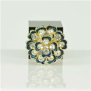 Bague Strass réglable Doré Full Strass New Collection 78538