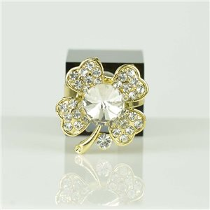 Adjustable Strass Ring Gold Full Strass New Collection 78540