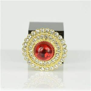 Adjustable Strass Ring Gold Full Strass New Collection 78556