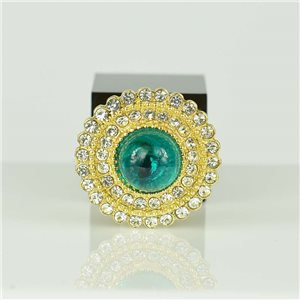 Bague Strass réglable Doré Full Strass New Collection 78557