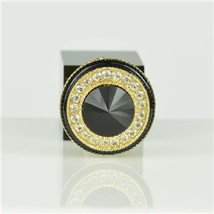 Bague Strass réglable Doré Full Strass New Collection 78559