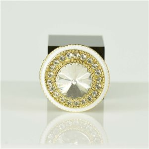Bague Strass réglable Doré Full Strass New Collection 78560