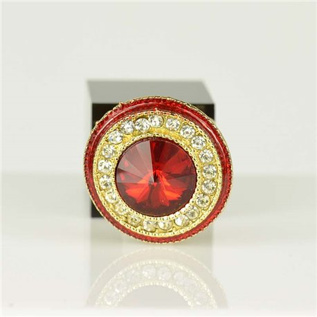 Adjustable Strass Ring Gold Full Strass New Collection 78561