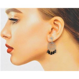 1p Filigree Zircon Stud Earrings and Tassels New Collection 78763