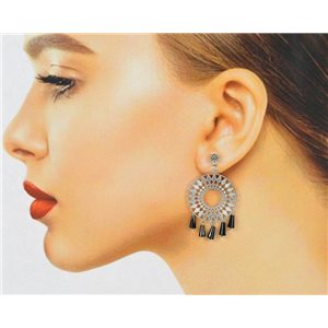 1p Filigree Zircon Stud Earrings and Tassels New Collection 78764