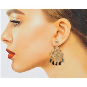 1p Filigree Zircon Stud Earrings and Tassels New Collection 78765