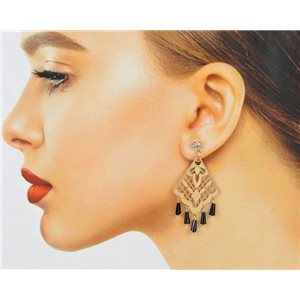 1p Filigree Zircon Stud Earrings and Tassels New Collection 78768