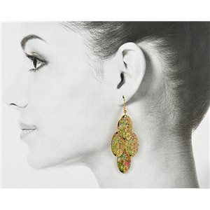 1p Filigree Golden Hook Earrings New Collection 78815