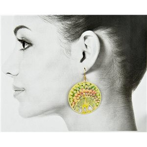 1p Filigree Golden Hook Earrings New Collection 78832
