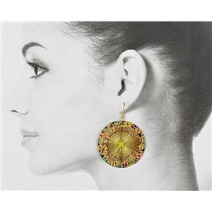 1p Filigree Golden Hook Earrings New Collection 78837