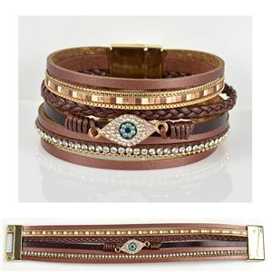 Strass bracelet Multirang cuff effect magnetic clasp New Collection 79036