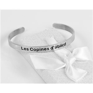 Message | The Girlfriends first | Stainless Steel Bangle 79422