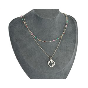 NEW Pretty Pendant Necklace on fine chain all in Stainless Steel 79440