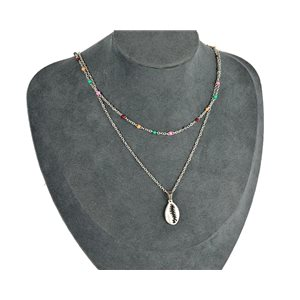 NEW Pretty Pendant Necklace on fine chain all in Stainless Steel 79446