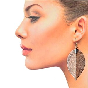 1p Filigree Hook Earrings Silver New Collection 78848