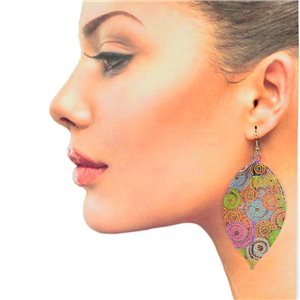1p Filigree Hook Earrings Silver New Collection 78853