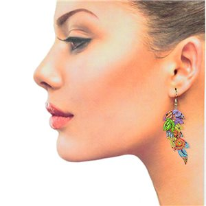 1p Filigree Hook Earrings Silver New Collection 78856