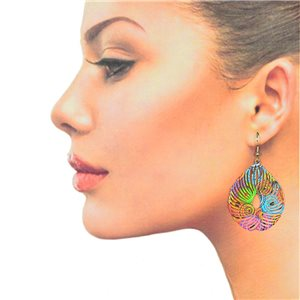1p Filigree Hook Earrings Silver New Collection 78857
