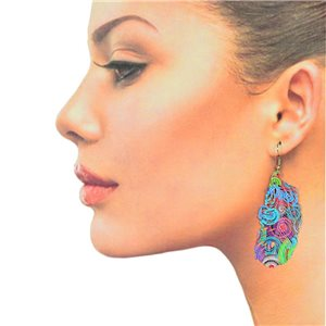 1p Filigree Hook Earrings Silver New Collection 78858