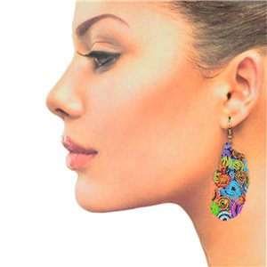 1p Filigree Hook Earrings Silver New Collection 78859