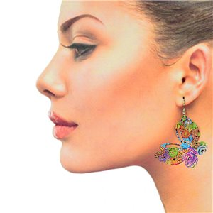 1p Filigree Hook Earrings Silver New Collection 78867