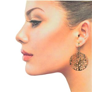 1p Filigree Hook Earrings Silver New Collection 78871