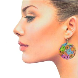 1p Filigree Hook Earrings Silver New Collection 78874