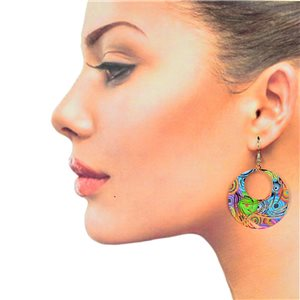 1p Filigree Hook Earrings Silver New Collection 78875