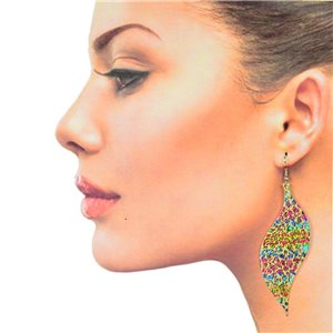 1p Filigree Hook Earrings Silver New Collection 78877