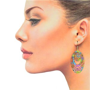 1p Filigree Hook Earrings Silver New Collection 78888