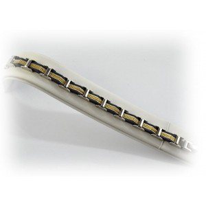 Bracelet en Acier inoxydable L21cm Steel and Gold Color New Collection 66284